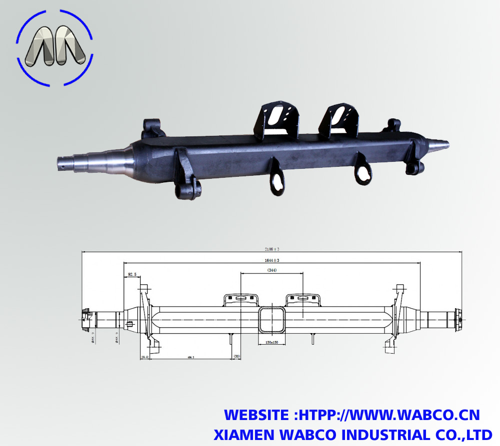 Germa type semi trailer axle beam