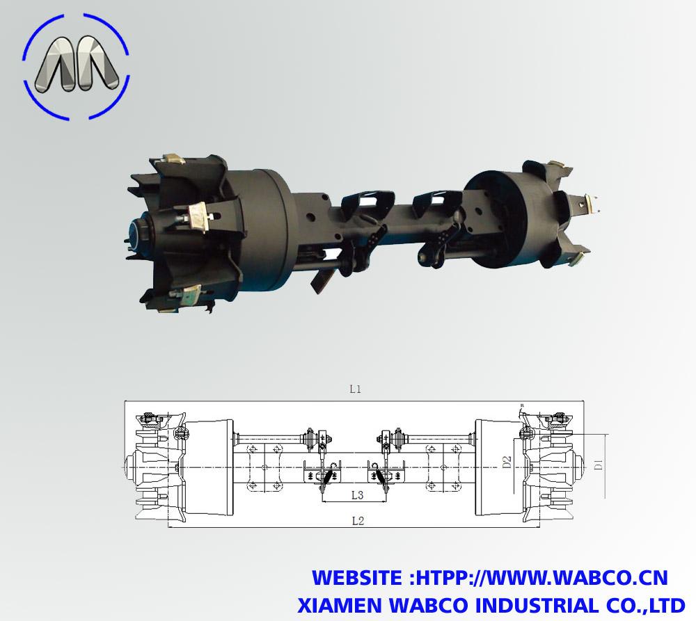BPW Heavy Duty Semi Trailer Spoke Axle – Capacity
