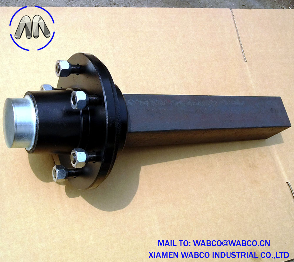 50mm Solid Square Agricultural Trailer Stub Axle