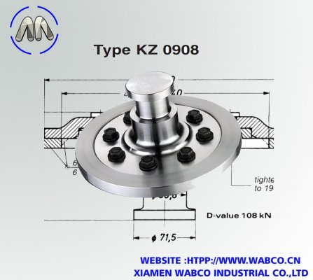 Aftermarket Jost KZ 0908 Bolted King pins 50mm