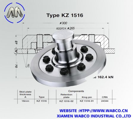 Aftermarket Jost KZ 1516 Bolted King pins 50mm