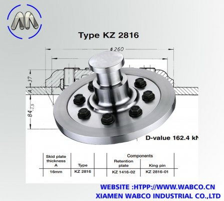 Aftermarket Jost KZ 2816 Bolted King pins 50mm
