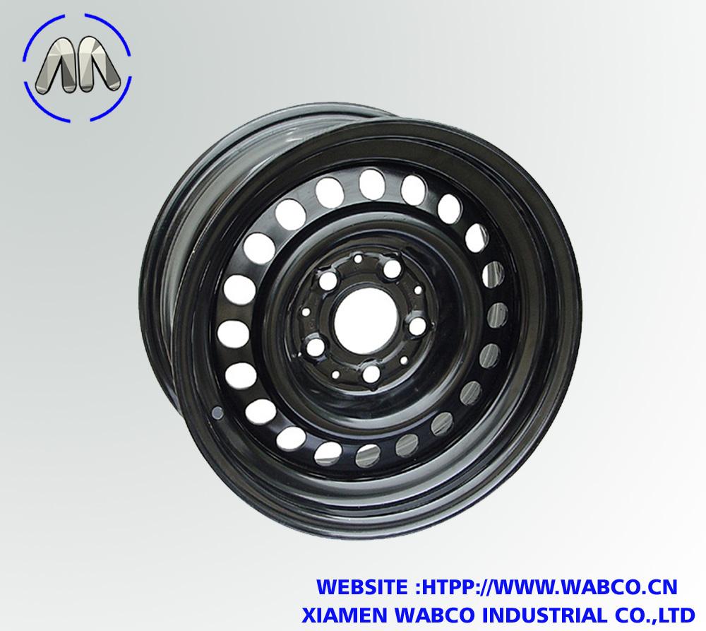 15 Inch Trailer Wheel Rim Black Painted Steel Spoke