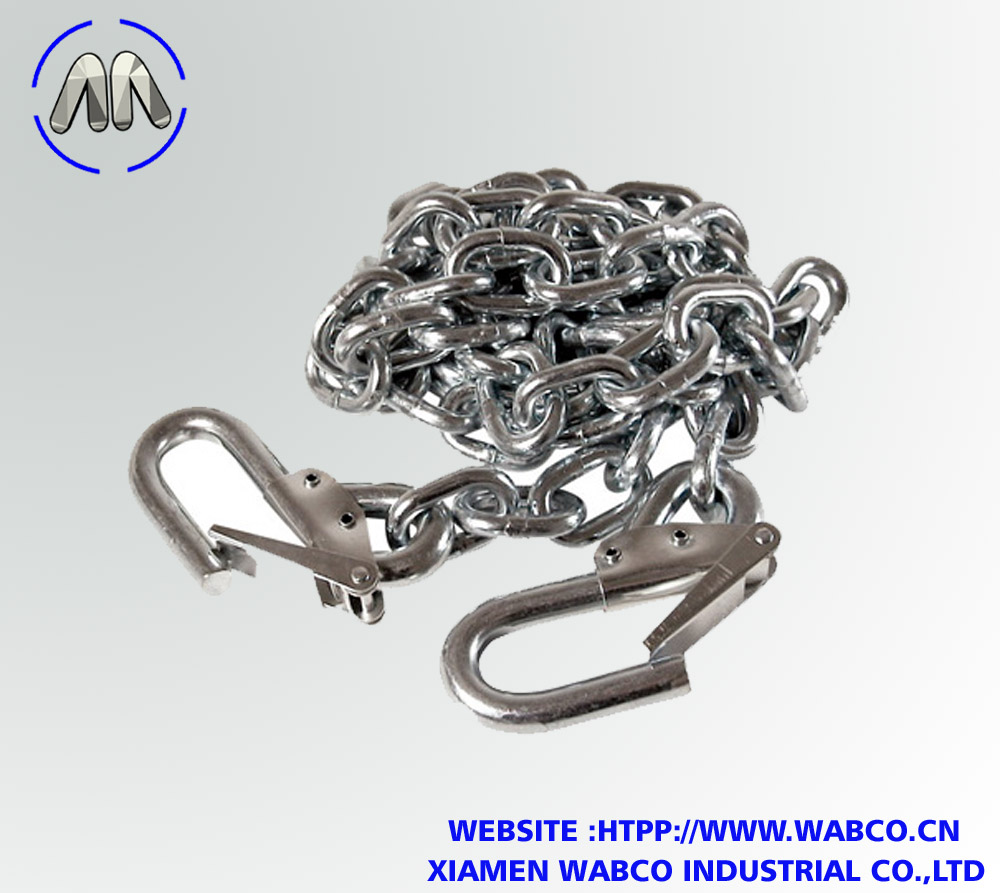 1/4 X 48 inch Zinc Safety Chain with Hooks