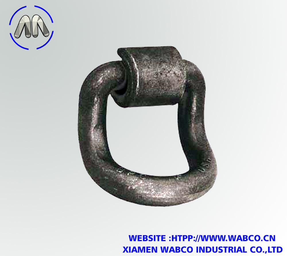 Forged D-Ring with Weld-On Mounting Bracket