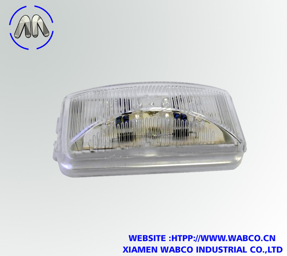 Amber Short Rectangular LED Marker Light