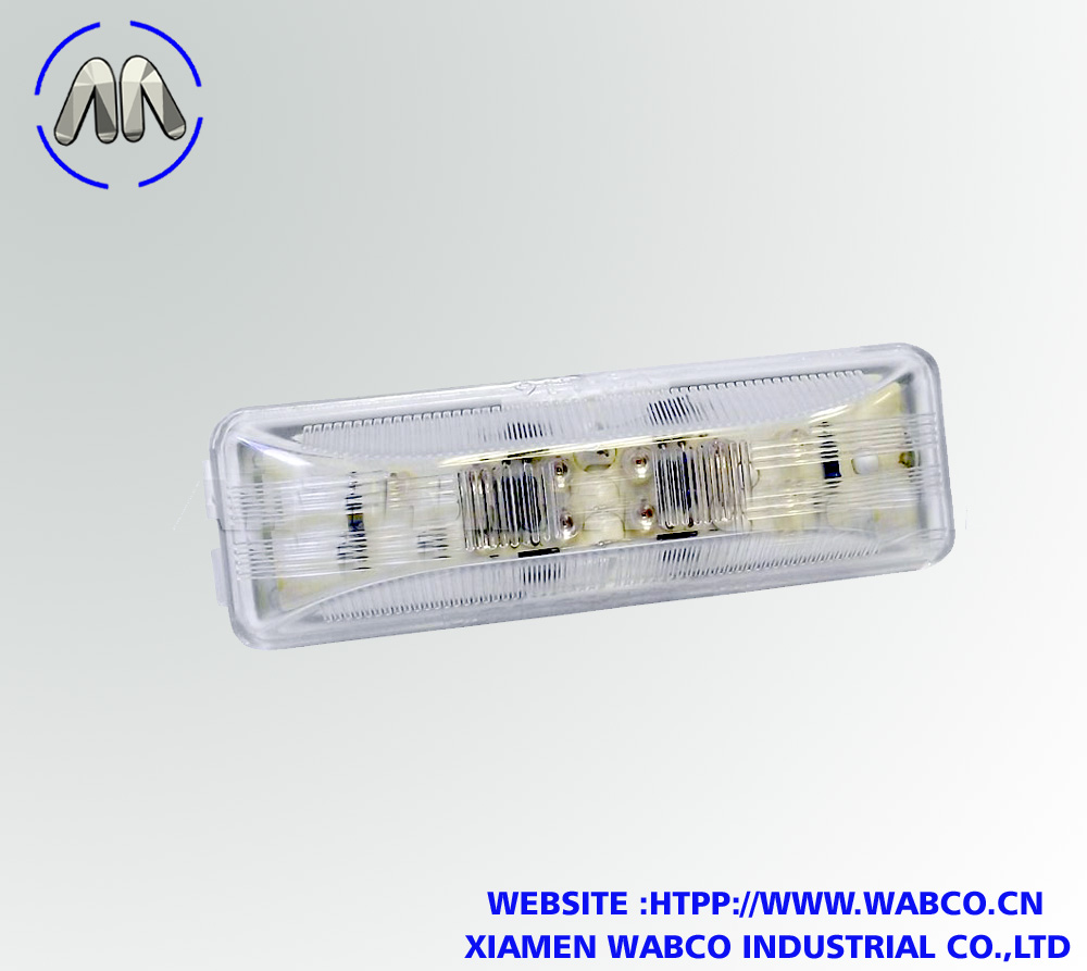 Amber Long Rectangular LED Marker Light, Clear Lens