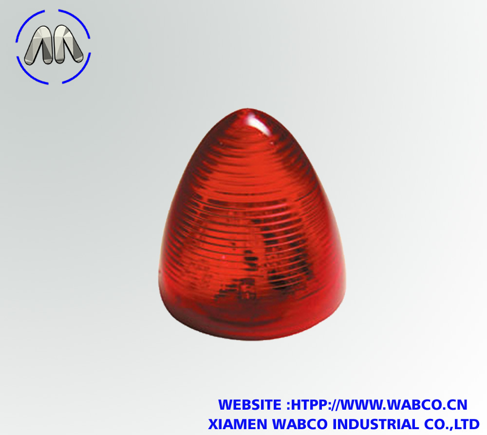 Red 2.5-Inch Beehive LED Marker Light